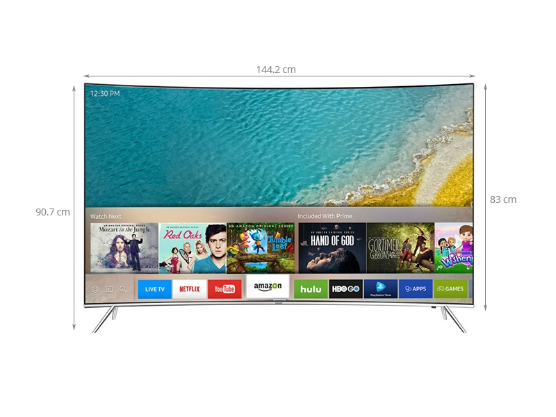Kích thước chiếc Smart tivi Samsung 65 inch UA65KS7500