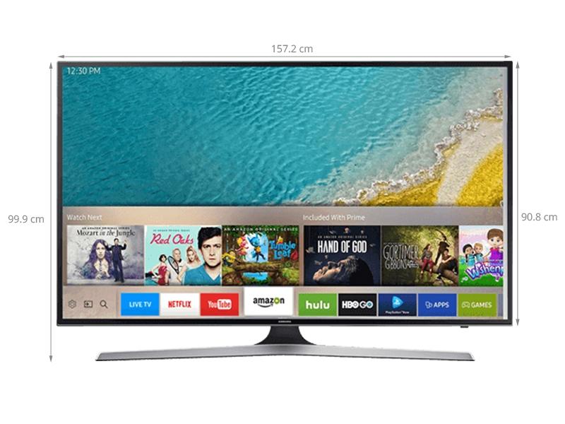 Kích thước của chiếc Smart tivi Samsung 70 inch UA70KU6000