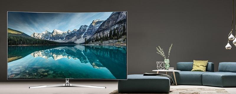 Smart tivi Samsung 78 inch UA78KS9000 là chiếc tivi màn hình cong siêu mỏng