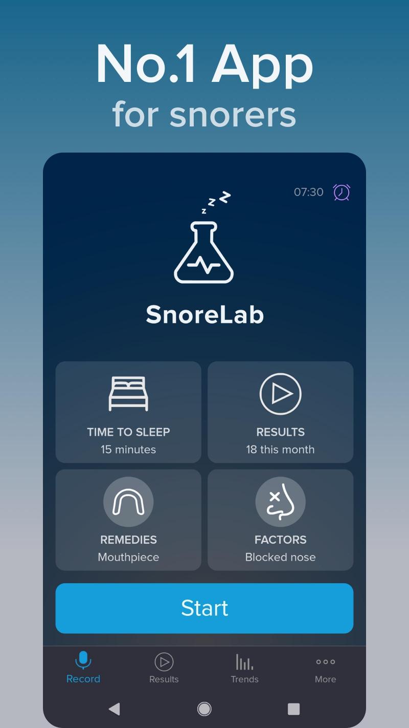 Ứng dụng thoi dõi và ghi lại tiếng ngáy của bạn SnoreLab : Record Your Snoring