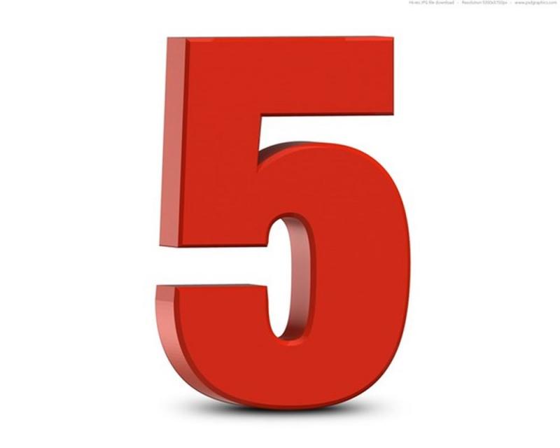 Số 5 có ý nghĩa gì?