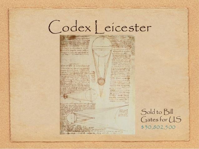 Cuốn sách chép tay Leicester của Leonardo Da Vinci