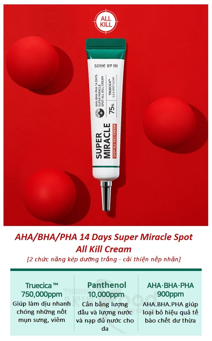 Some By Mi AHA/BHA/PHA 14 Days Super Miracle Spot All Kill Cream