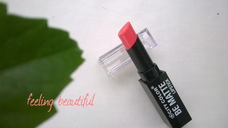 Son City Color Be Matte Lipstick màu Coral