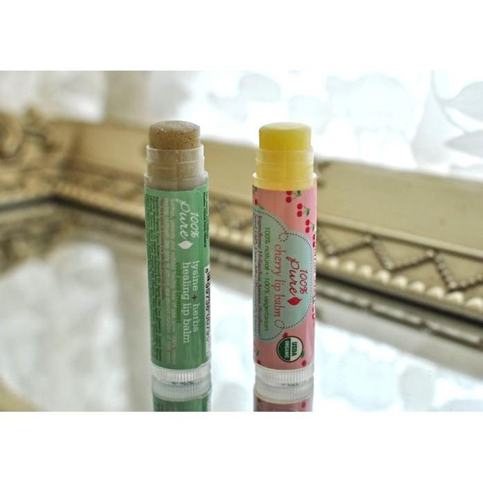Son dưỡng môi hữu cơ 100% Pure Lysine + Herbs Lip Balm