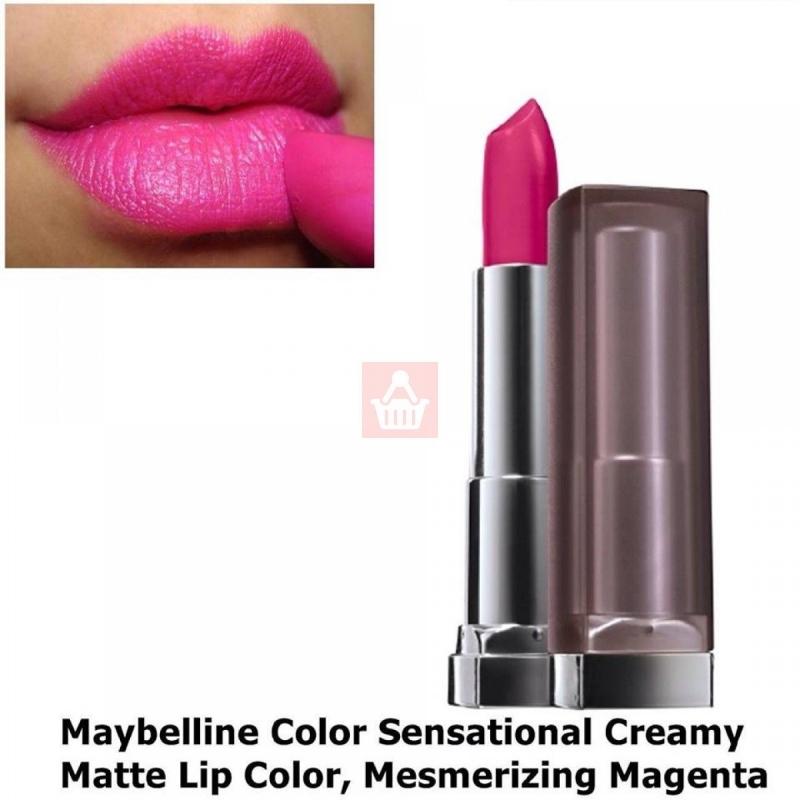 Son Maybelline color sensational creamy matte màu Mesmerizing Magenta