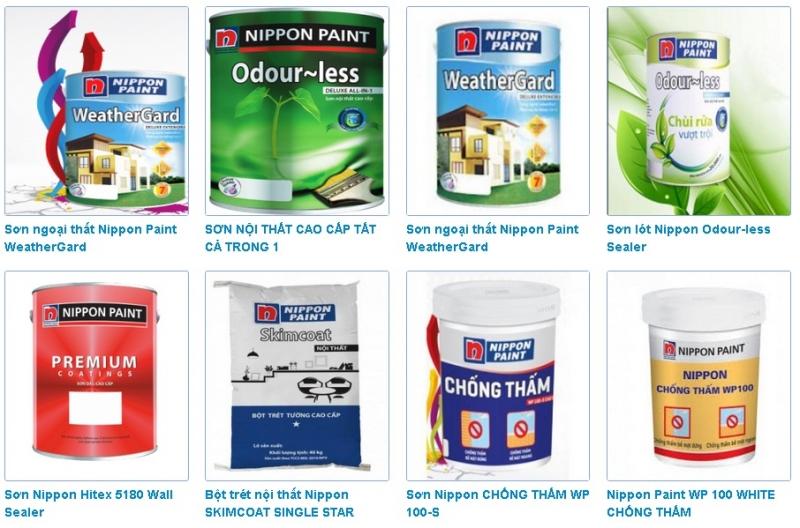 Một số dòng sản phẩm của Nippon
