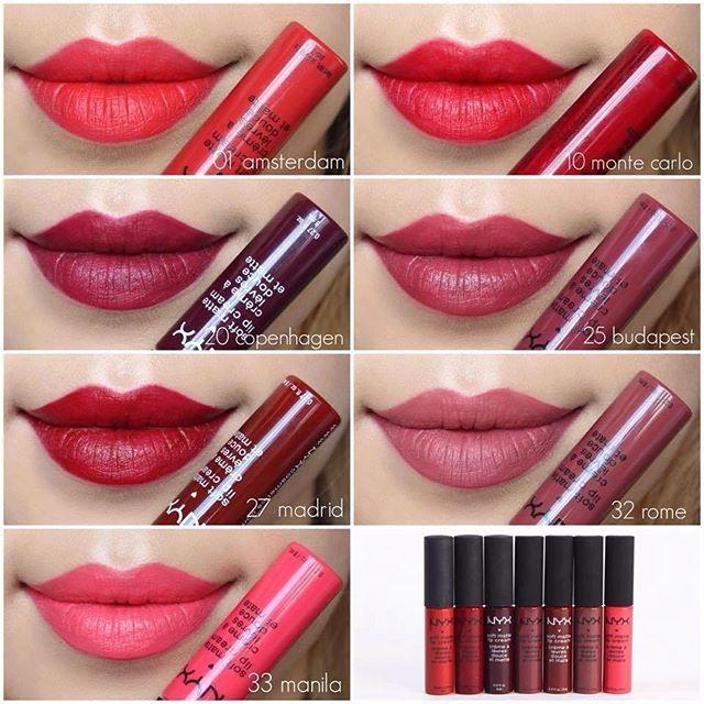 Một số màu nổi bật của Son NYX Soft Matte Lip Cream