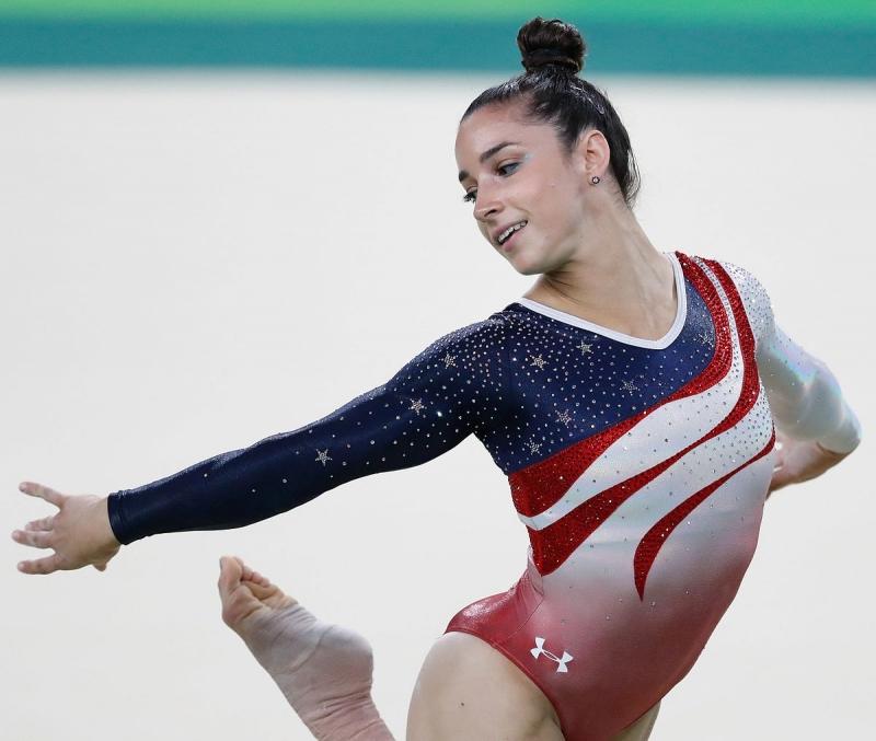 Aly Raisman là người hùng của đội tuyển thể dục dụng cụ Mỹ tại các kỳ Olympic