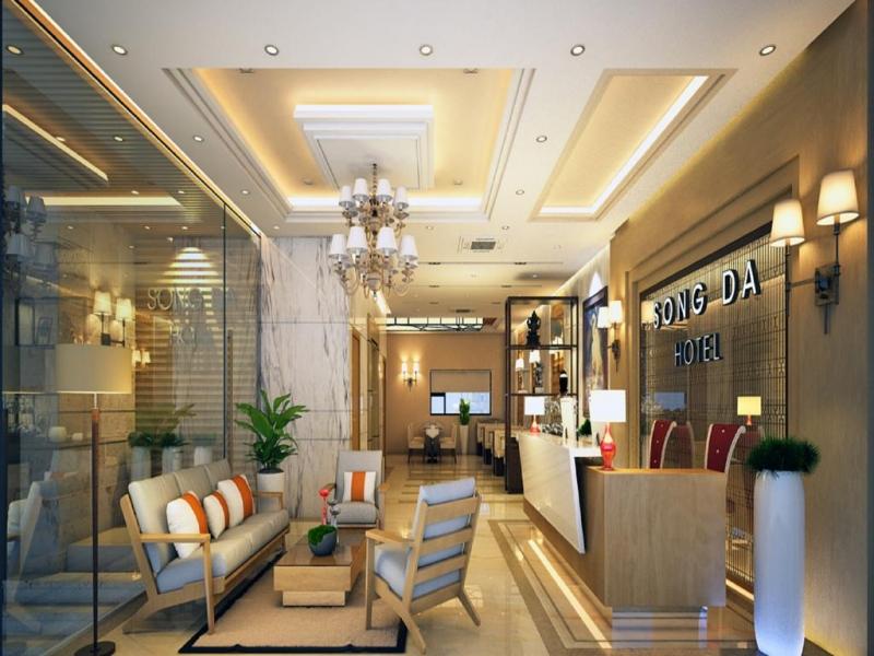 Sảnh lễ tân của Sông Đà Hotel