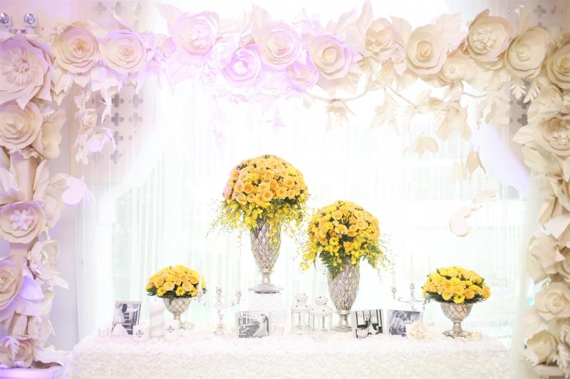 Vốn có kinh nghiệm tổ chức tiệc cưới nên các buổi tiệc sinh nhật do Song Huyền tổ chức đều rất lung linh.