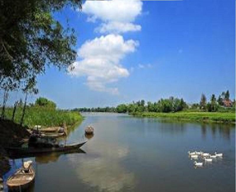 Hình ảnh bình yên đến lạ trên một khúc Sông Thu Bồn