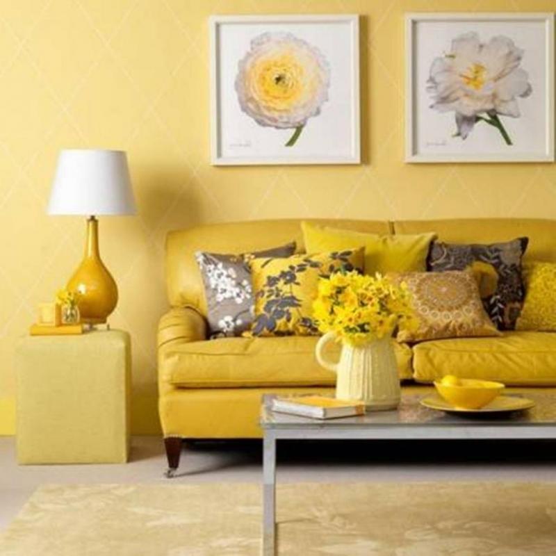 Một căn phòng mang lại sự ấm áp, rạng rỡ.