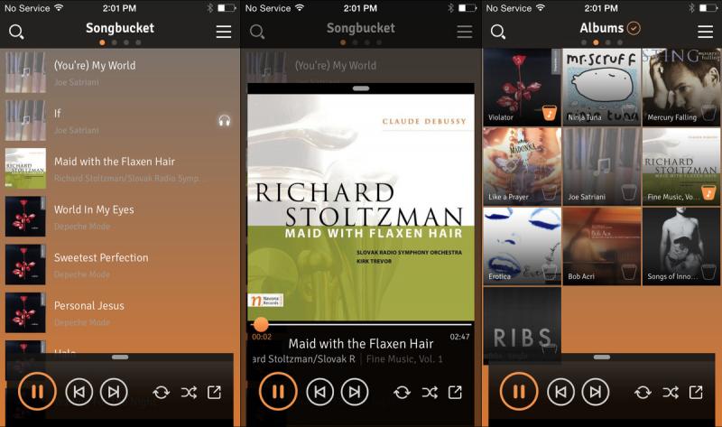 Ứng dụng nghe nhạc Songbucket