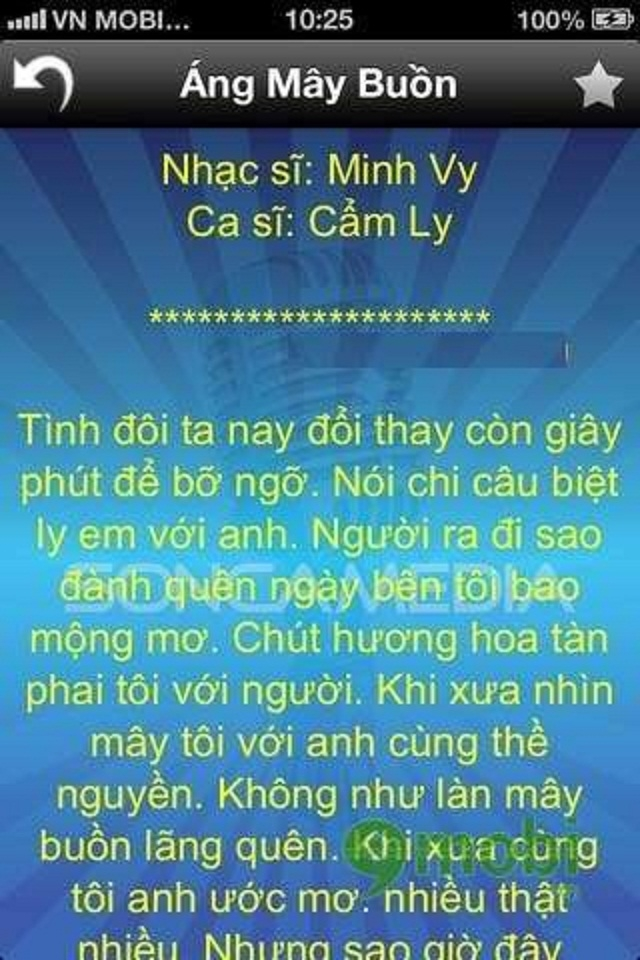 Ứng dụng SongIndex