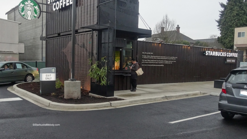 Starbucks trên xe container ở Seattle, Mỹ