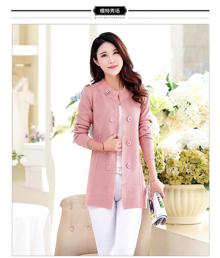 Áo khoác len hồng cho bạn nữ
