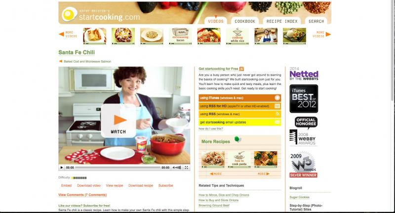 Trang web Startcooking