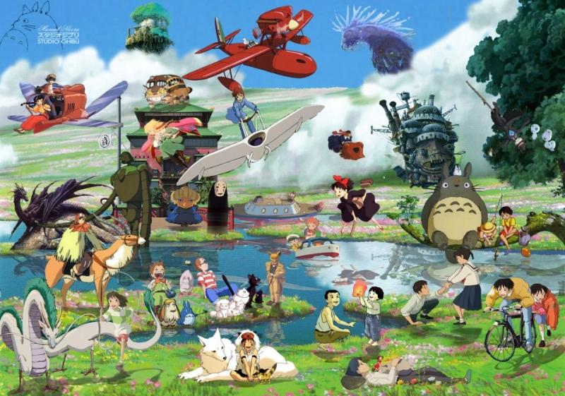 Các nhân vật trong phim hoạt hình Ghibli