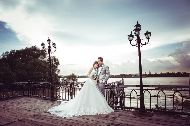 Bức ảnh cưới lãng mạn tại Studio