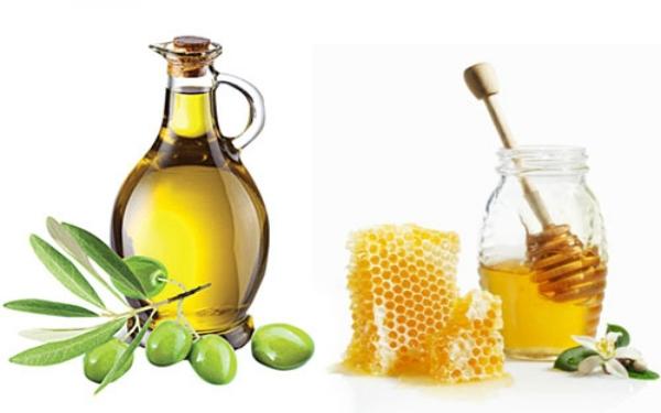 Sử dụng dầu olive và mật ong