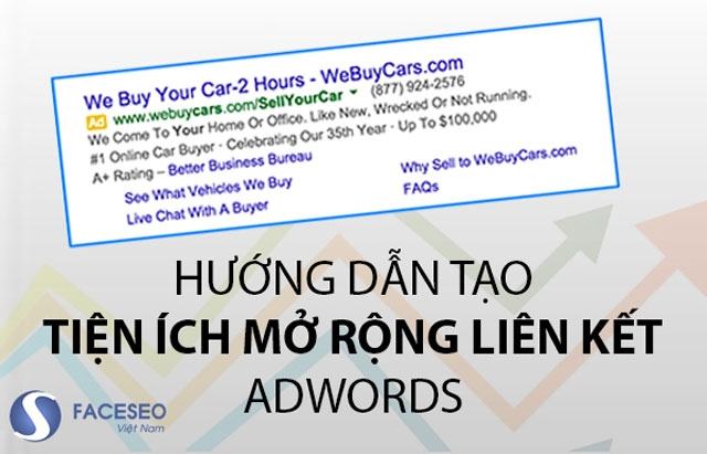 Sử dụng các tiện ích mở rộng trong quảng cáo Google Adwords