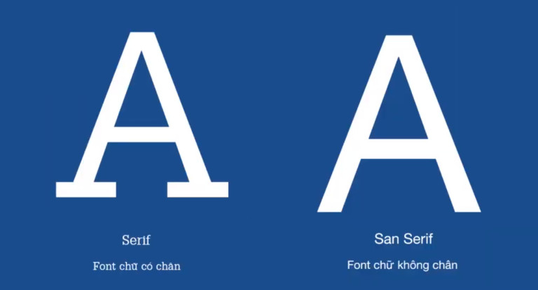 Sử dụng font chữ phù hợp