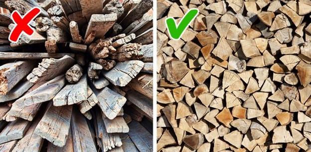 Sử dụng gỗ mục nát thay vì củi tốt hoặc than