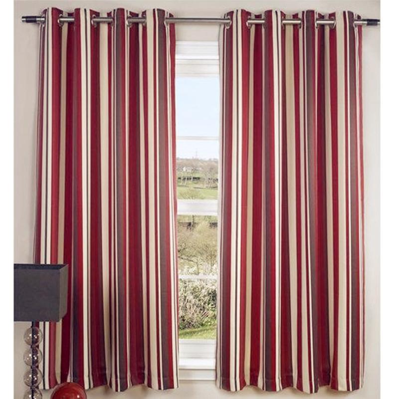 Sử dụng họa tiết kẻ sọc cho rèm hoặc tường