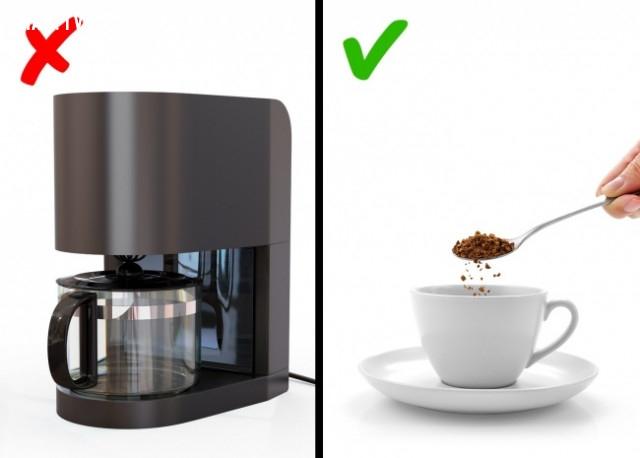 Không nên sử dụng máy pha cafe ở văn phòng- nơi công cộng