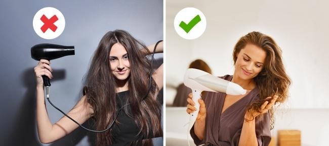 Hãy chắc chắn rằng bạn đã sấy tóc đúng cách nhé (Ảnh: Internet)