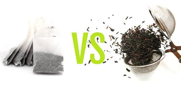Nên sử dụng trà lá thay cho túi lọc trà