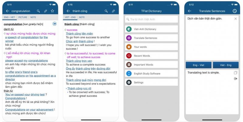 Sử dụng từ điển trực tuyến trên smartphone