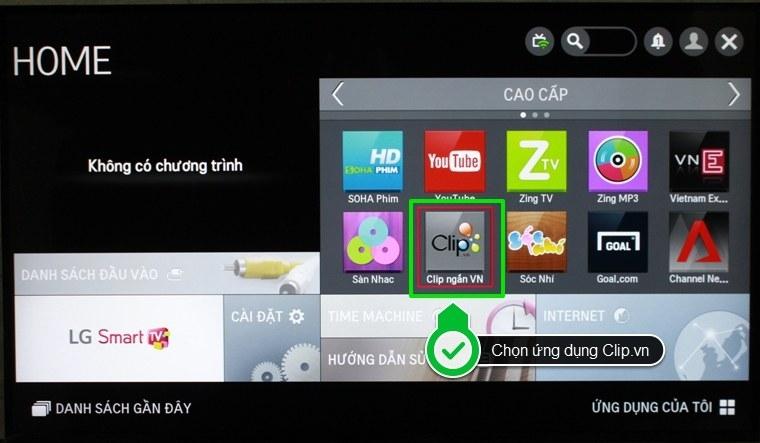 Sử dụng ứng dụng của Smart Tivi.