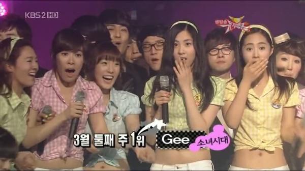 Gee và 9 chiến thắng liên tiếp trên show Music Bank