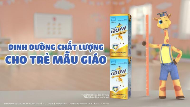 Sữa Abbott Grow tăng chiều cao