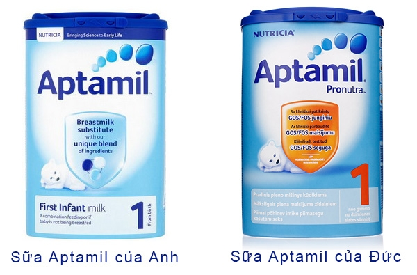 Sữa Anh Aptamil Anh và Đức
