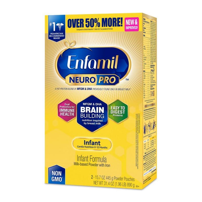 Sữa bột Enfamil Neuro Pro NON-GMO Infant Formula chứa Neuro Pro 890gr của Mỹ
