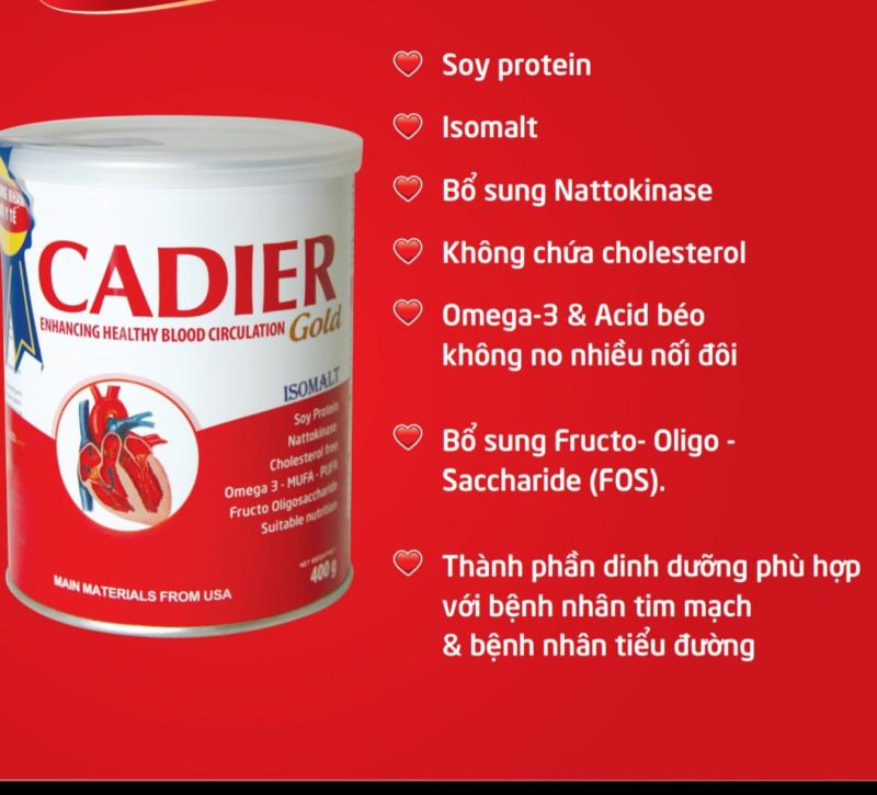 Sữa Tiểu Đường, Tim Mạch - Cadier Gold 400g
