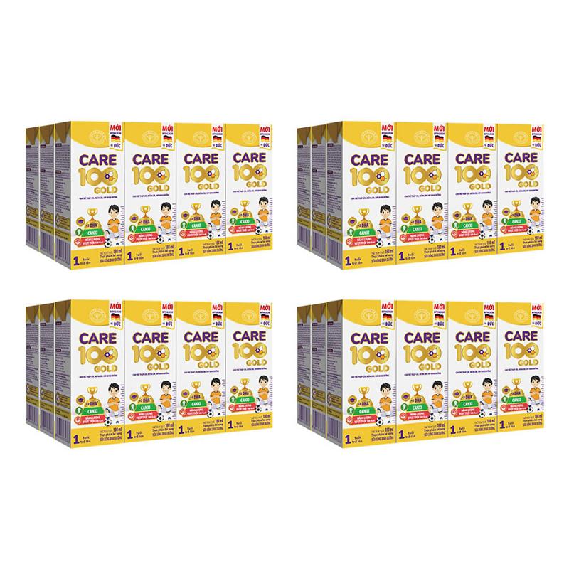 Sữa Care 100 Gold 180ml Pha Sẵn Cho Trẻ Biếng Ăn, Thấp Còi