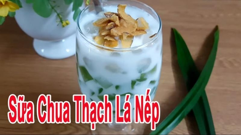 Sữa chua thạch lá nếp trân châu - Quán sinh tố Huyền Vi