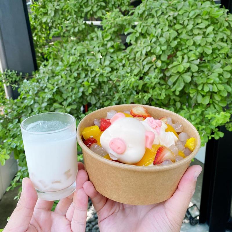 Sữa chua trân châu cốt dừa Hạ Long