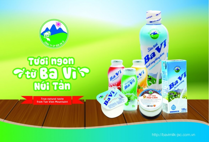 Các sản phẩm sữa của thương hiệu Ba Vì