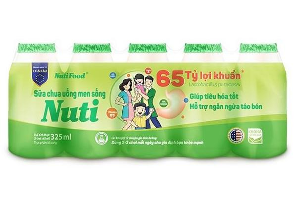 Sữa chua uống men sống Nuti cung cấp khoảng 20 tỷ lợi khuần