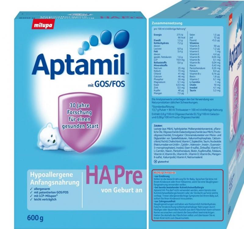 Sữa công thức Aptamil Hapre - Anh