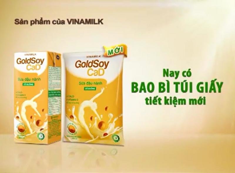 Sữa đậu nành Vinamilk 100 % nguyên liệu chất lượng.