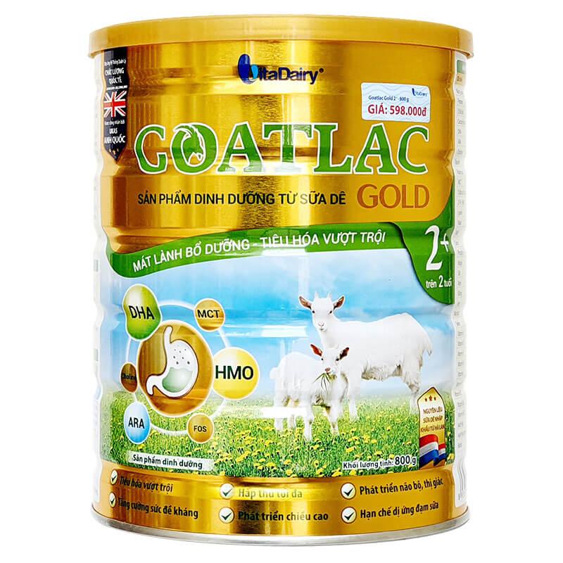 Sữa Dê GOATLAC Gold BA 800g (trẻ biếng ăn 1-10 tuổi)