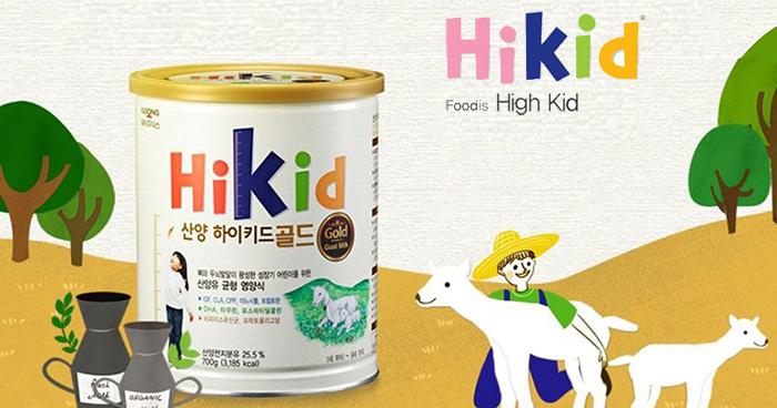 Sữa Dê Hikid Hàn Quốc 700g