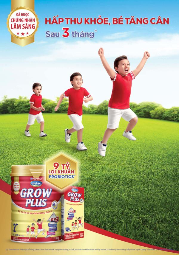 Dielac Grow Plus - sữa dành cho trẻ suy dinh dưỡng, thấp còi.