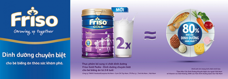 Sữa Friso Gold Pedia - Giúp hoàn thiện khẩu phần ăn